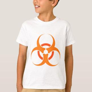 Biohazard biological hazard symbol orange T-Shirt