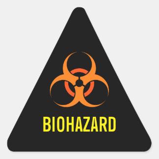 Biohazard biological hazard symbol orange triangle sticker