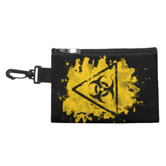 Biohazard - bleached grungy look accessory bag