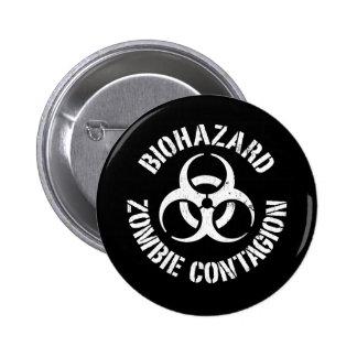 Biohazard: Botón del contagio del zombi Pin Redondo De 2 Pulgadas