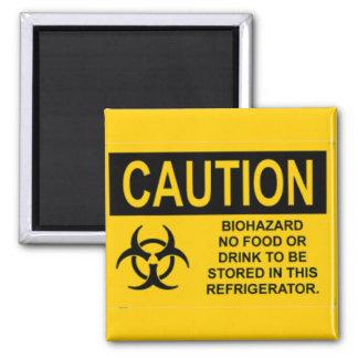 Biohazard caution08 imán cuadrado