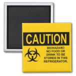 Biohazard caution08 iman de nevera