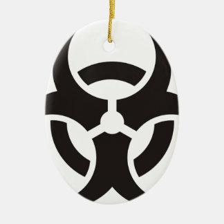 Biohazard Ceramic Ornament