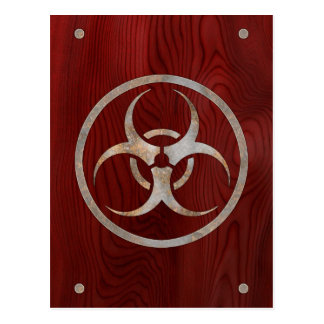 Biohazard Corroded Post Cards