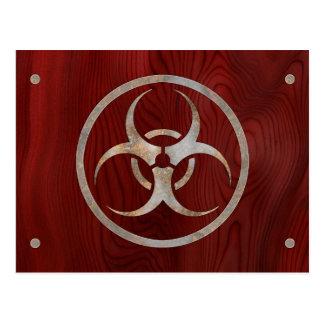 Biohazard Corroded Postcard