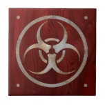 Biohazard corroído azulejos cerámicos