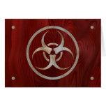 Biohazard corroído tarjetas