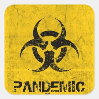 Biohazard Customizable Square Sticker