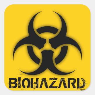 Biohazard Customizable Square Stickers