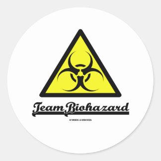 Biohazard del equipo (señal de peligro del etiquetas redondas