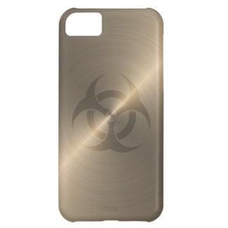 Biohazard del oro funda para iPhone 5C