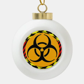 Biohazard Design by Kenneth Yoncich Ceramic Ball Christmas Ornament