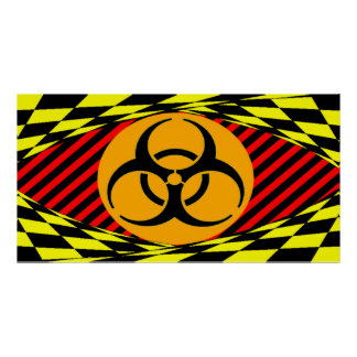 Biohazard Design by Kenneth Yoncich Poster