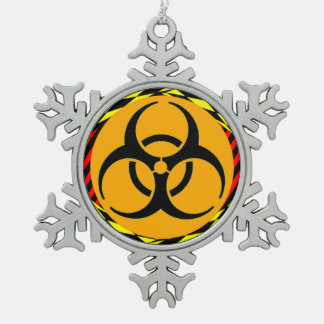 Biohazard Design by Kenneth Yoncich Snowflake Pewter Christmas Ornament