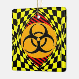 Biohazard Design Ceramic Ornament