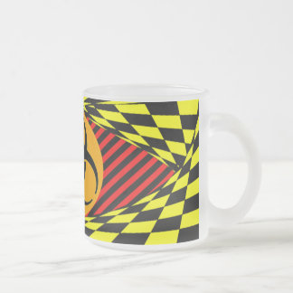 Biohazard Design Frosted Glass Coffee Mug