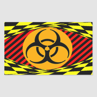 Biohazard Design Rectangular Sticker