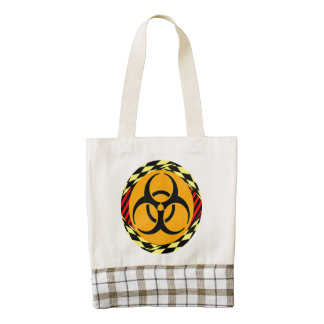 Biohazard Design Zazzle HEART Tote Bag