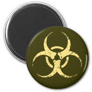Biohazard - dist - amarillo imanes para frigoríficos