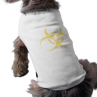 Biohazard - dist - amarillo playera sin mangas para perro