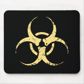 Biohazard - dist - amarillo alfombrillas de ratones