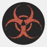 Biohazard -dist -red stickers