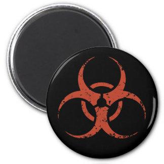 Biohazard - dist - rojo imán redondo 5 cm