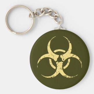 Biohazard -dist -yellow keychain