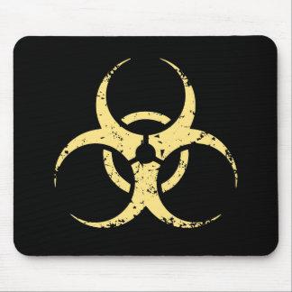 Biohazard -dist -yellow mouse pad