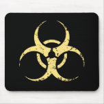 Biohazard -dist -yellow mouse pads