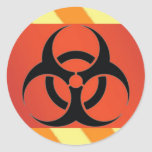 biohazard etiquetas redondas
