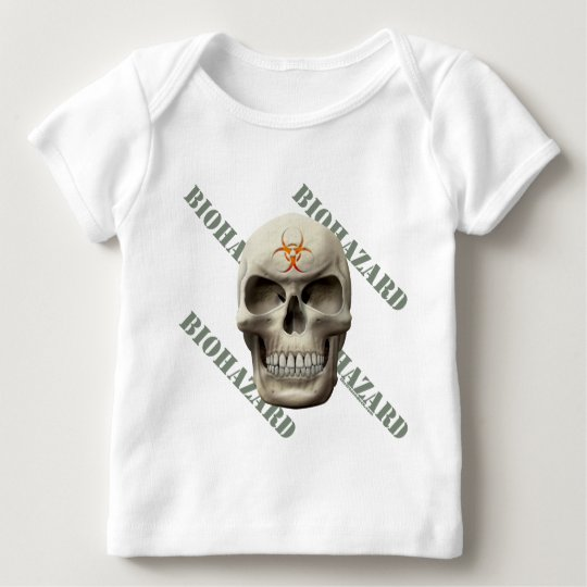Biohazard Evil Skull Baby T-Shirt