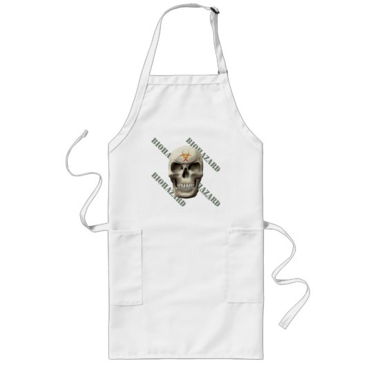 Biohazard Evil Skull Long Apron