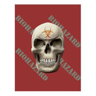 Biohazard Evil Skull Postcard