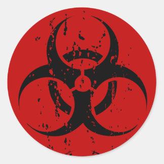 Biohazard Faded Stickers