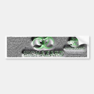 biohazard fallout contamination sign toxic green bumper sticker