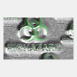 biohazard fallout contamination sign toxic green rectangular sticker