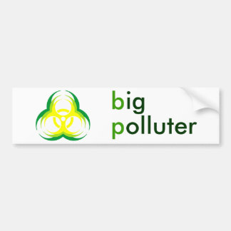 biohazard flower big polluter bumper sticker