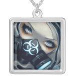 Biohazard Gas Mask Fairy NECKLACE gothic fof 143