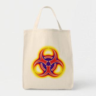 Biohazard glow tote bag