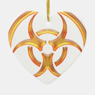 Biohazard Gold Ceramic Ornament