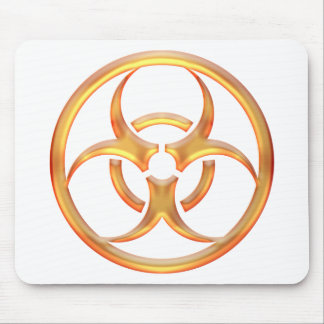 Biohazard Gold Mouse Pads