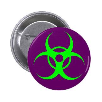 Biohazard Green on Purple Button