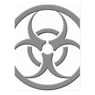 Biohazard Grey Postcard