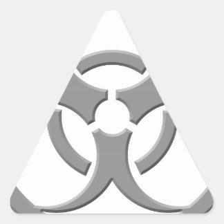 Biohazard Grey Triangle Sticker