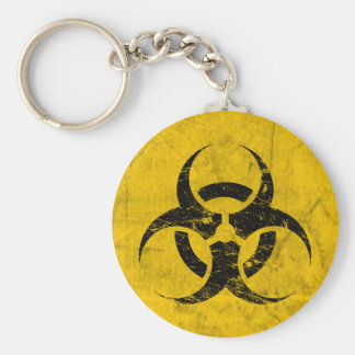 Biohazard Grunge Customizable Keychain