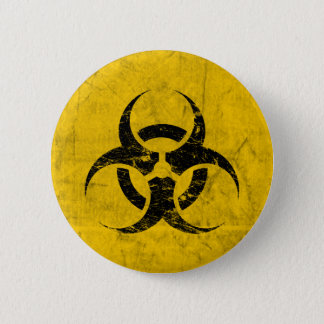 Biohazard Grunge Customizable Pinback Button