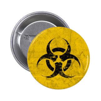 Biohazard Grunge Customizable Pinback Button