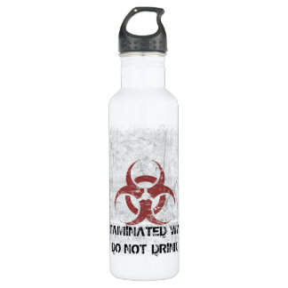 Biohazard Grunge Customizable Stainless Steel Water Bottle