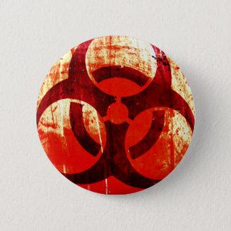 Biohazard Grunge Pinback Button